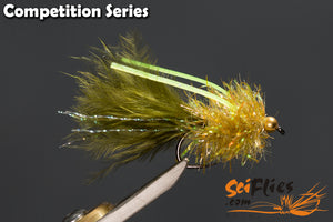 SCI FLIES PSYCHO FRITZ (GOLD BEAD) - 3Pkt