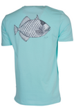 THOMAS & THOMAS MOUSTACHE TRIGGERFISH T-SHIRT