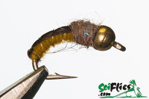 SCI FLIES MUSTARD CADDIS (TUNGSTEN) - 3Pkt