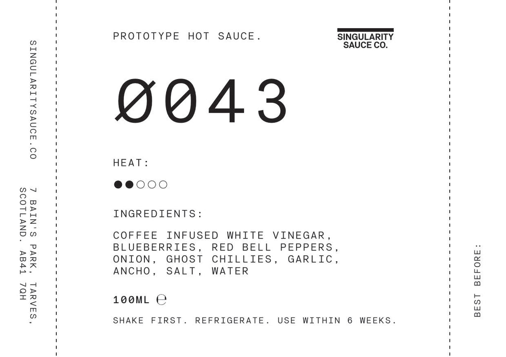 Prototype hot sauces available