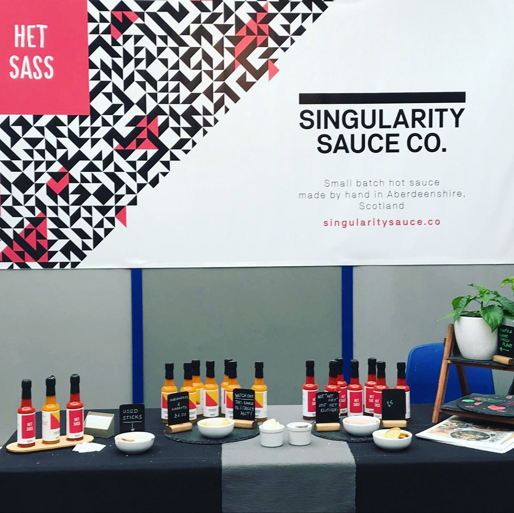 Singularity Sauce Co. stall at Taste of Grampian 2019