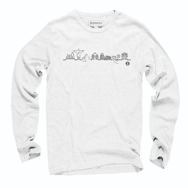 Sustainable Cotton Long Sleeve T-Shirt - 7 Wonders