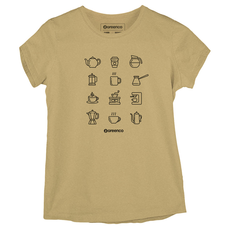 Sustainable Cotton Women's T-Shirt - Coffee Lovers
