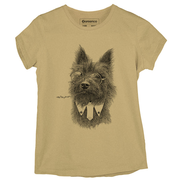 Sustainable Cotton Women's T-Shirt -  Toto Terrier - RK