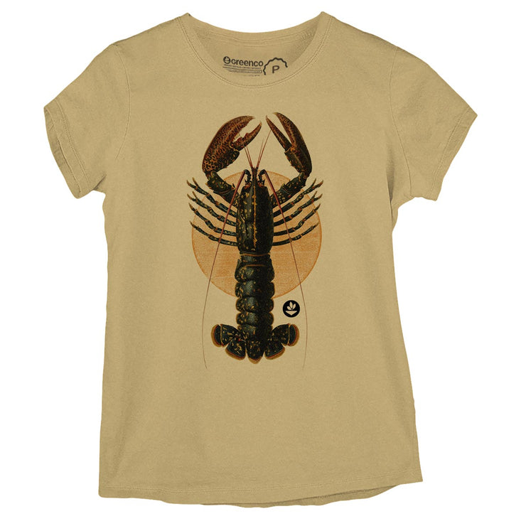 Sustainable Cotton Women's T-Shirt - Lobster