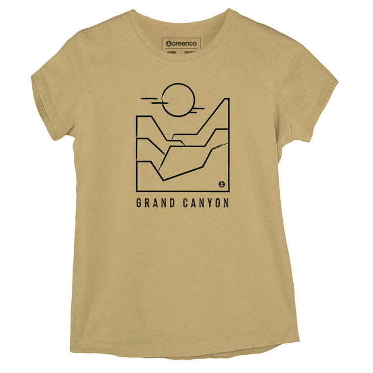Sustainable Cotton Women's T-Shirt - Grand Canyon