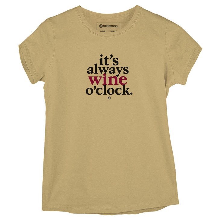 Sustainable Cotton Women's T-Shirt - Wine O Clock