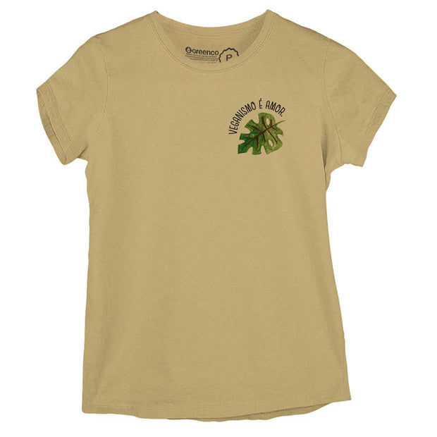 Sustainable Cotton Women's T-Shirt - Veganismo é amor