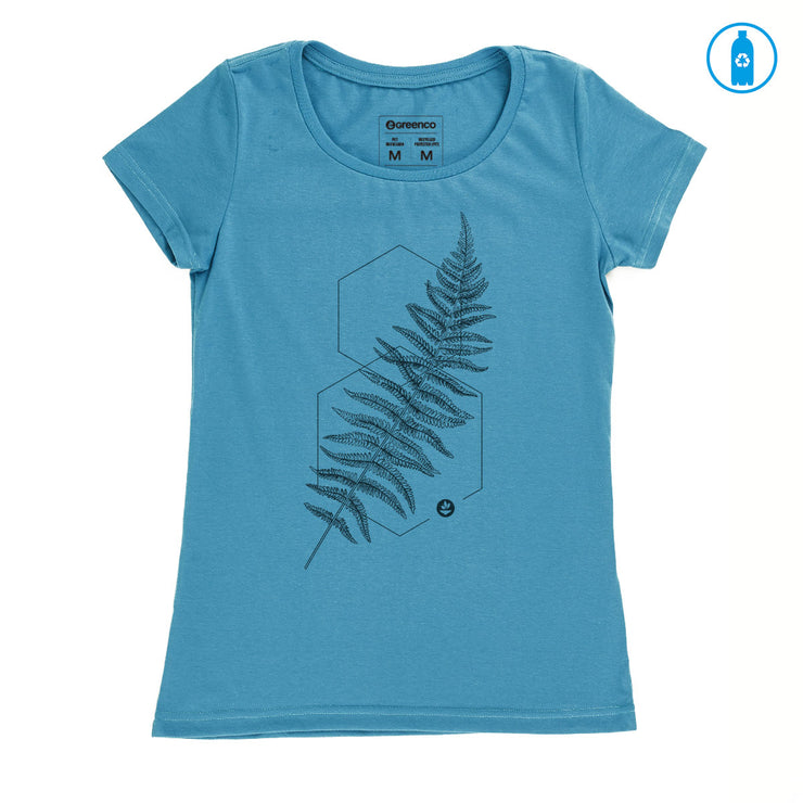 Recycled Polyester (PET) Women's T-Shirt - Graphic fern