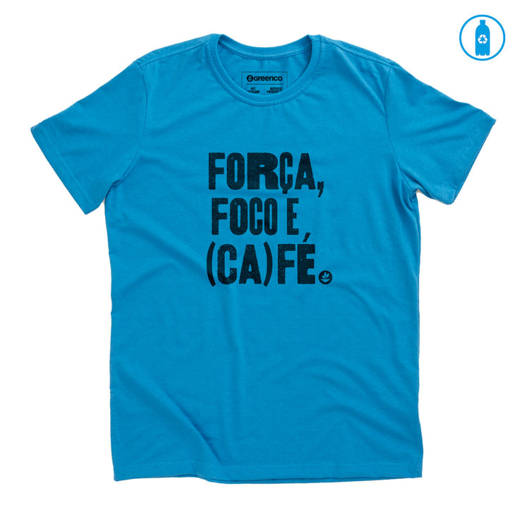 Recycled Polyester (PET) Men's T-Shirt - Força, foco e café