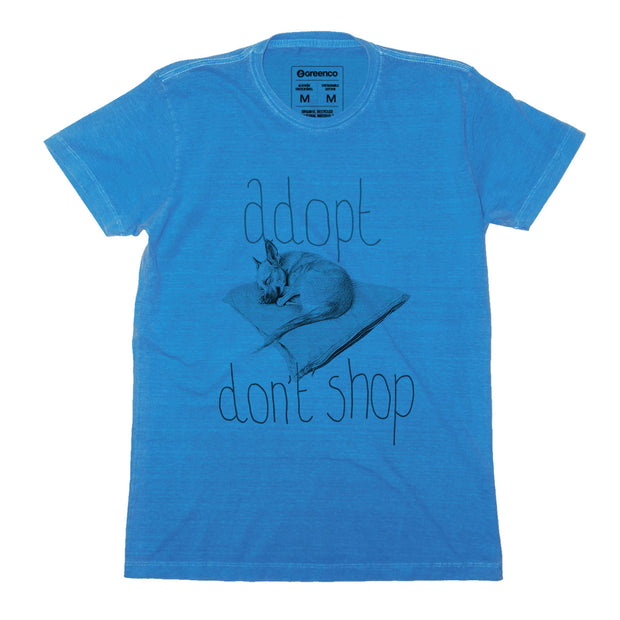 Sustainable Cotton Men's T-Shirt - Adopt Don't Shop - RK