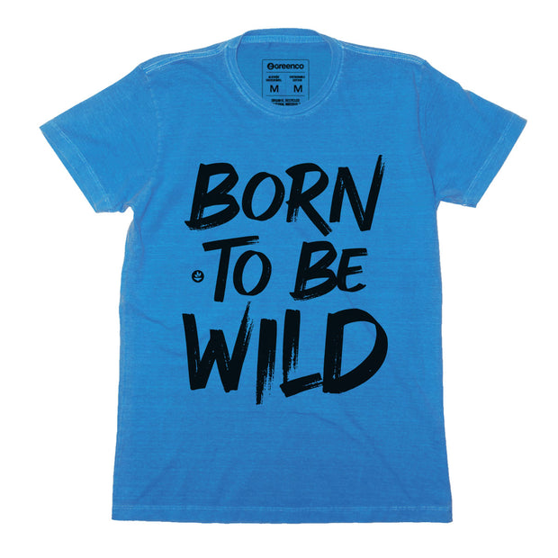 Sustainable Cotton Men's T-Shirt - Born to be wild