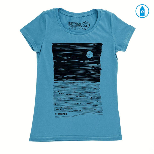 Recycled Polyester (PET) Women's T-Shirt - Moon Eyes