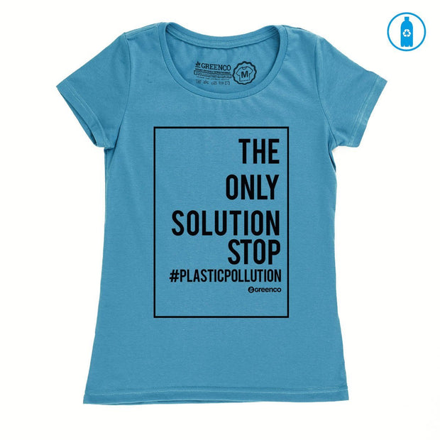 Recycled Polyester (PET) Women's T-Shirt - Plastic Pollution