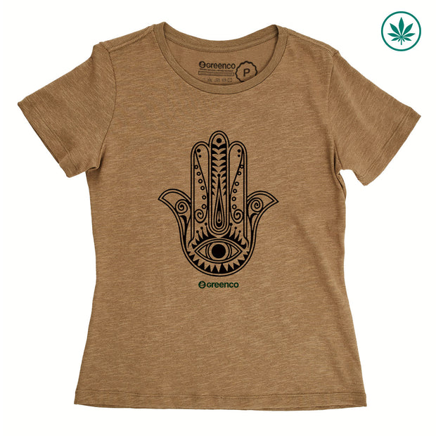 Hemp Women's T-Shirt - Hamsa