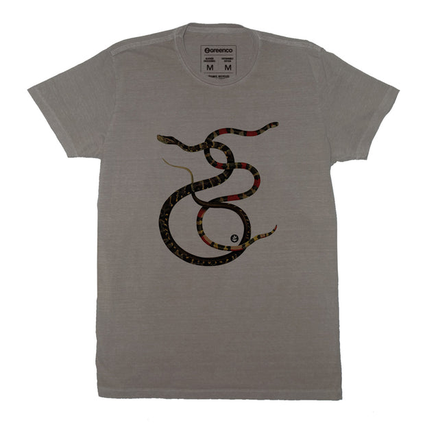 Sustainable Cotton Men's T-Shirt - Snakes