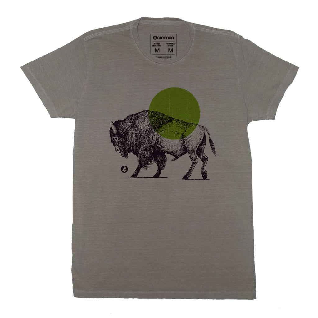 Sustainable Cotton Men's T-Shirt - Bison