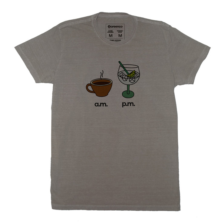 Sustainable Cotton Men's T-Shirt - AM PM - Gin