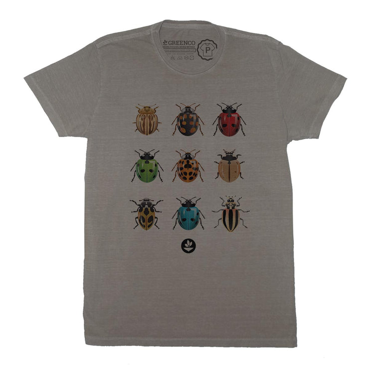 Sustainable Cotton Men's T-Shirt - Ladybugs