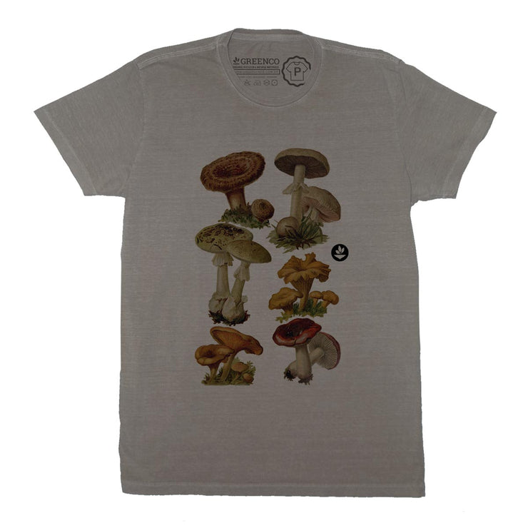 Sustainable Cotton Men's T-Shirt - Mushrooms