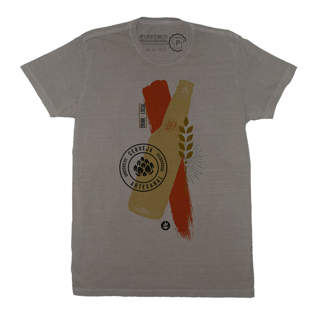 Sustainable Cotton Men's T-Shirt - Cerveja Artesanal