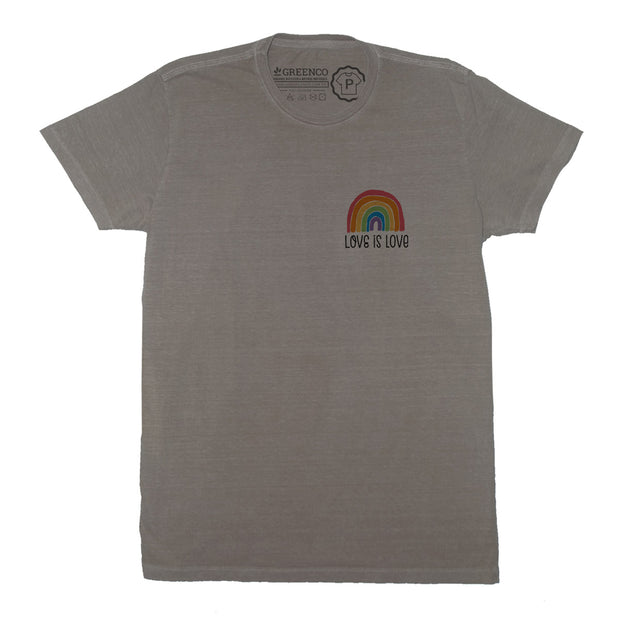 Sustainable Cotton Men's T-Shirt - Love is Love Minimal