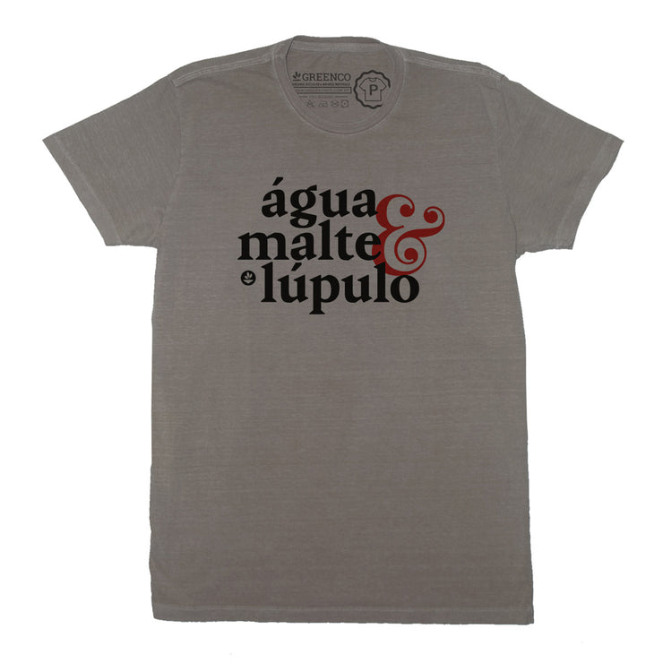Sustainable Cotton Men's T-Shirt - Água Malte Lúpulo