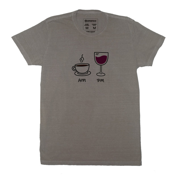 Sustainable Cotton Men's T-Shirt - AM PM - Wine