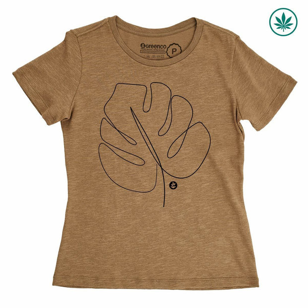 Hemp Women's T-Shirt - Leaf Backside