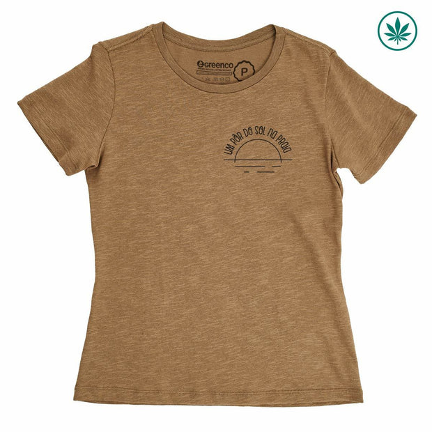 Hemp Women's T-Shirt - Um pôr do sol