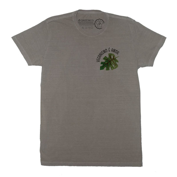 Sustainable Cotton Men's T-Shirt - Veganismo é amor