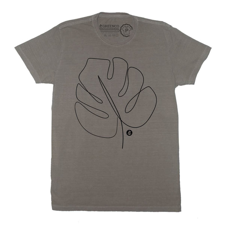 Sustainable Cotton Men's T-Shirt - Leaf Backside