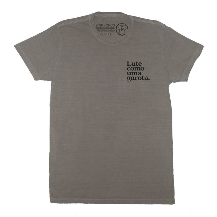 Sustainable Cotton Men's T-Shirt - Lute como uma garota