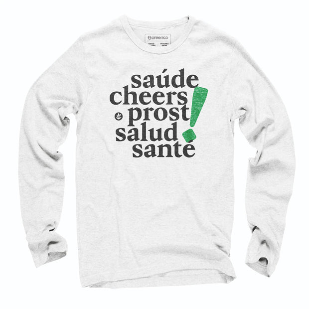 Sustainable Cotton Long Sleeve T-Shirt - Cheers!