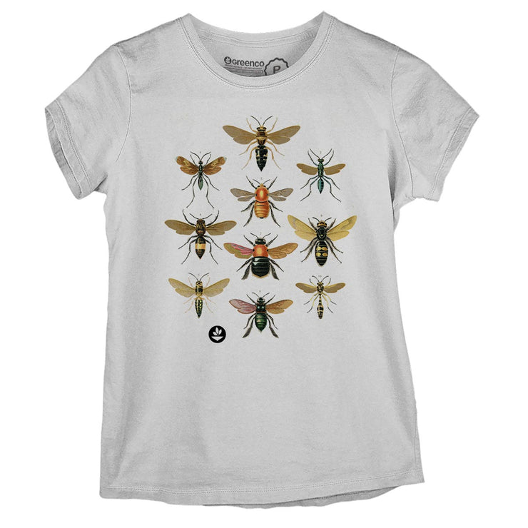 Sustainable Cotton Women's T-Shirt - Wasps and bees
