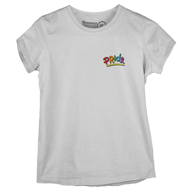 Sustainable Cotton Women's T-Shirt - Pride Lettering