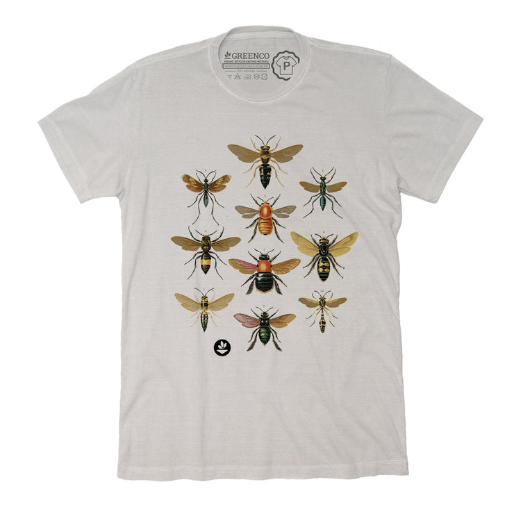 Sustainable Cotton Men's T-Shirt - Wasps and bees