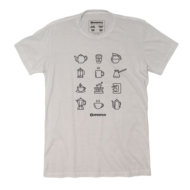 Sustainable Cotton Men's T-Shirt - Coffee Lovers