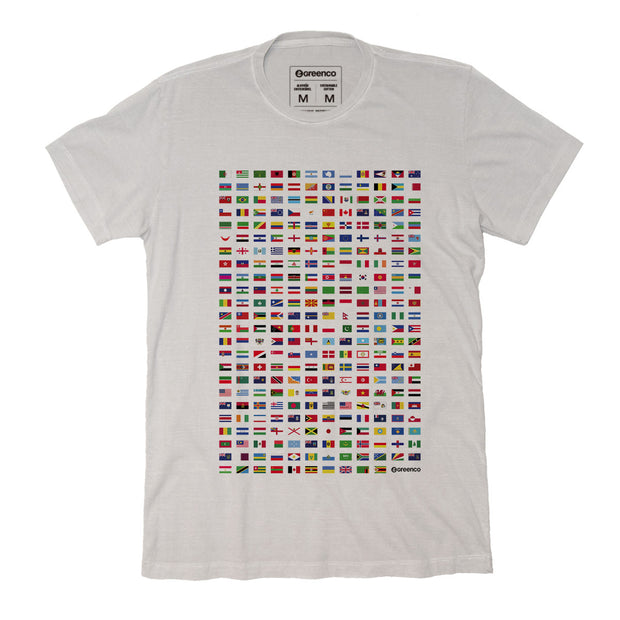 Sustainable Cotton Men's T-Shirt - World Flags