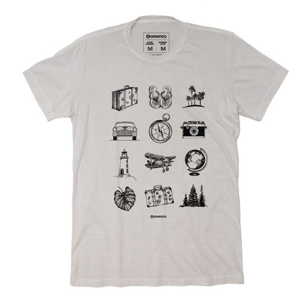 Sustainable Cotton Men's T-Shirt - Vintage Traveller