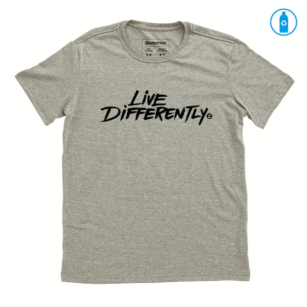 Recycled Polyester (PET) Men's T-Shirt - Live Differently