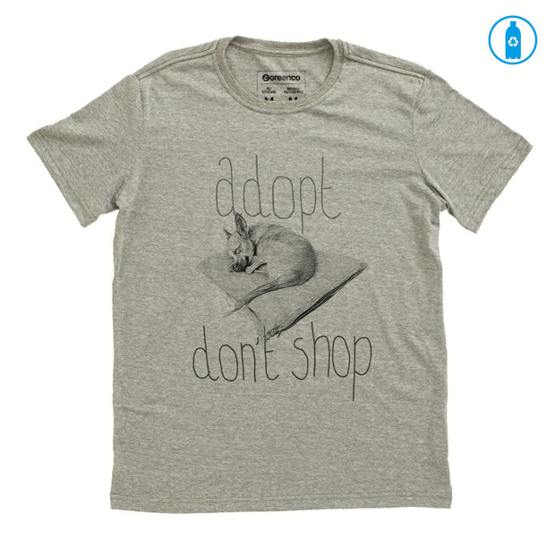 Recycled Polyester (PET) Men's T-Shirt - Adopt Don't Shop - RK