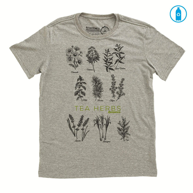 Recycled Polyester (PET) Men's T-Shirt - Tea Herbs