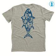 Recycled Polyester (PET) Men's T-Shirt - Dead Fish