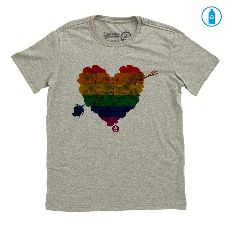 Recycled Polyester (PET) Men's T-Shirt - Heart