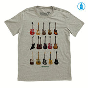Recycled Polyester (PET) Men's T-Shirt - Guitar Types