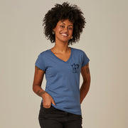 Comfort Cotton Women's V-neck T-shirt - Moka