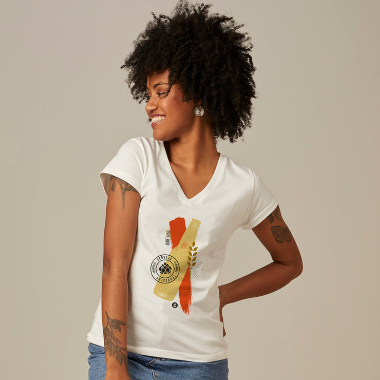 Comfort Cotton Women's V-neck T-shirt - Craft Beer