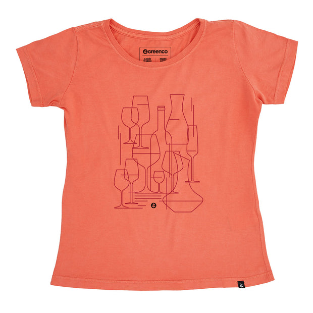Organic Cotton Women's T-Shirt - Graphic Wine