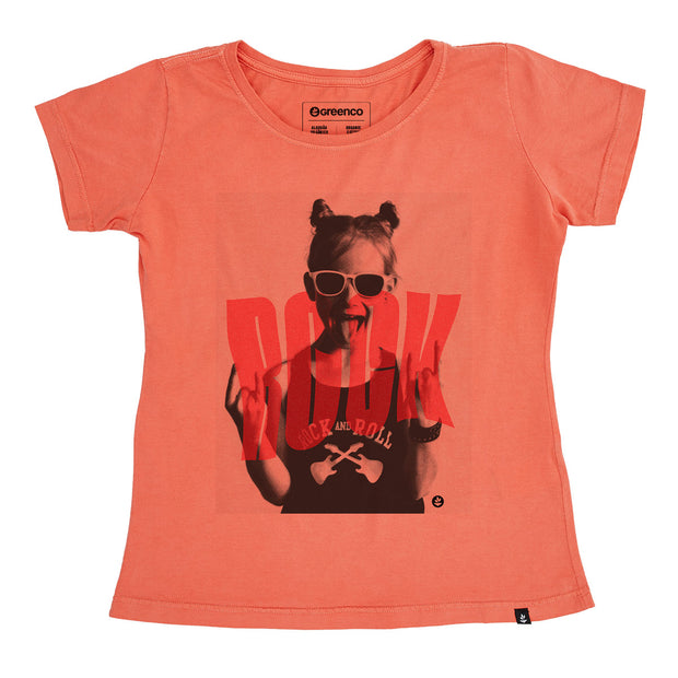 Organic Cotton Women's T-Shirt - Rock Girl